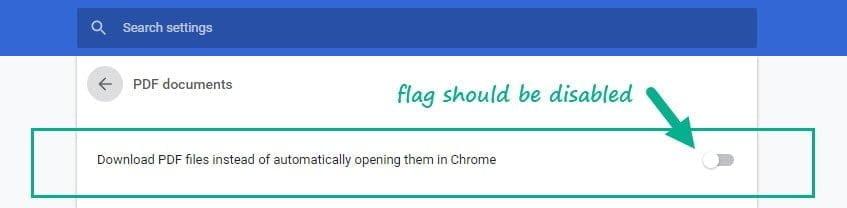 Open a PDF Document in Chrome