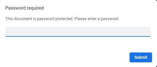 pdf password entry